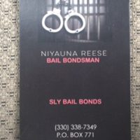 SLY BAIL BONDSNiyauna Reese330-338-7349ANY BOND, ANYWHERE