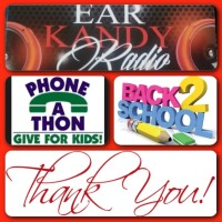 Ear Kandy Radio Phone-A-ThonDonate 4 Back 2 School Supplies