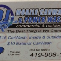 OJ Mobile Carwash & Power Wash We come to you!!! 419-908-1703