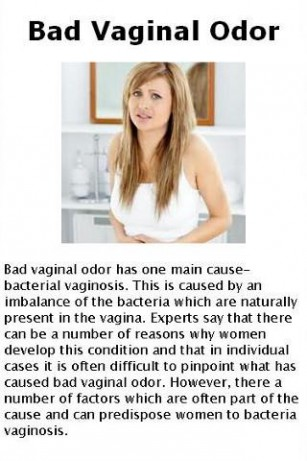 the what vagina causes odor in