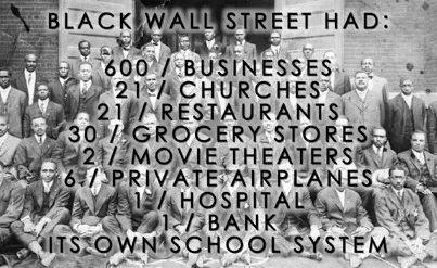 I M Not Sure If You Guys Are Familiar With Black Wall Street But It Was A Thriving Community Of Blacks And Group Ful White Individuals Burned